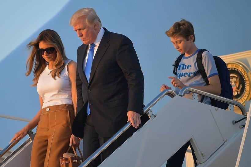 Melania, Donald i Barron Trump