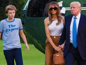 Melania i Barron Trump