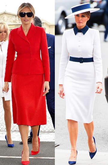 Melania Trump 2021 nowe stylizacje