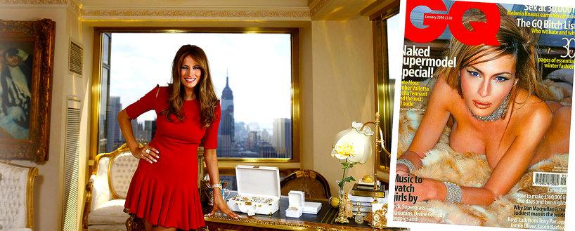 Melania Trump chce być ikoną stylu, ale łatwo znaleźć jej nagie zdjęcia