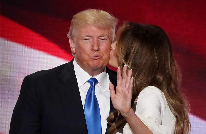 Melania Trump, Donald Trump, 2016 rok