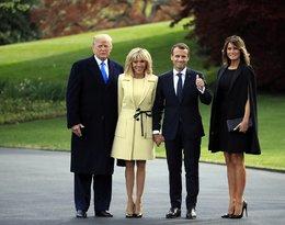 Melania Trump, Donald Trump, Emmanuel Macaron, Brigitte Macron, pierwsze damy