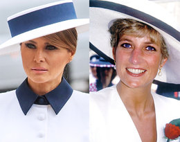 Melania Trump wyborem stylizacji oddała hołd księżnej Dianie!