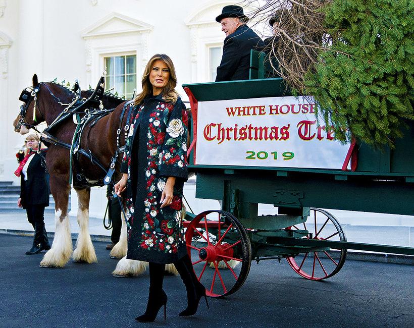 Melania Trump przystroiła Biały Dom na święta Bożego Narodzenia 2019