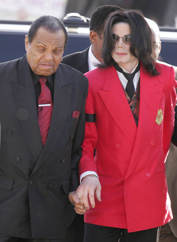 Michael Jackson z ojcem Joe