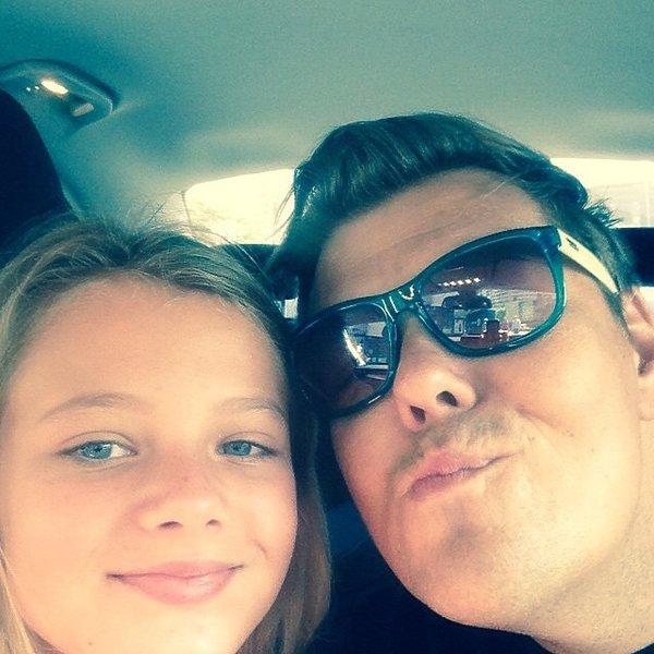 Michał Figurski z córką, Sonia Figurska