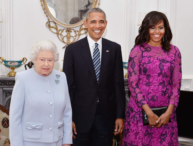 Michelle Obama, Barack Obama, królowa Elżbieta II, 2016 rok