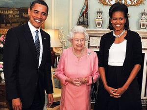 Michelle Obama, królowa Elżbieta II
