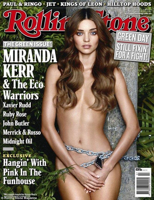Miranda Kerr na okładce Rolling Stone