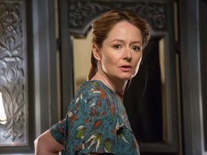 """MIRANDA OTTO as Esther Mullins in New Line Cinema's supernatural thriller """"ANNABELLE: CREATION,"""" a Warner Bros. Pictures release."""
