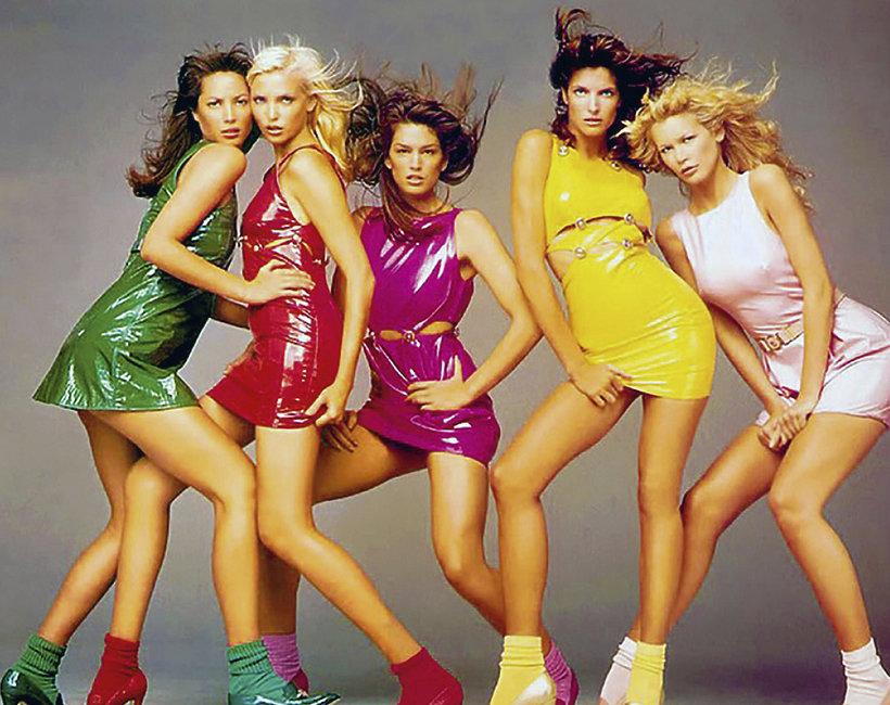 moda, lata 90., supermodelki