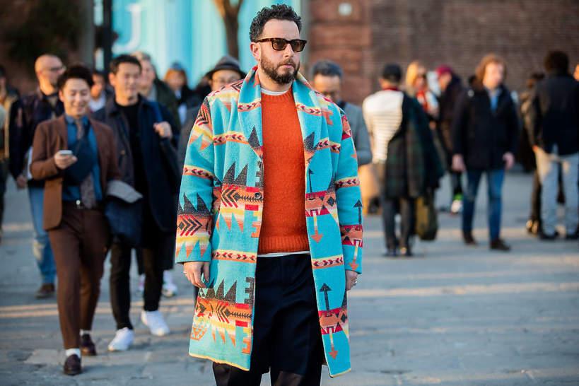 Moda męska jesień wzór