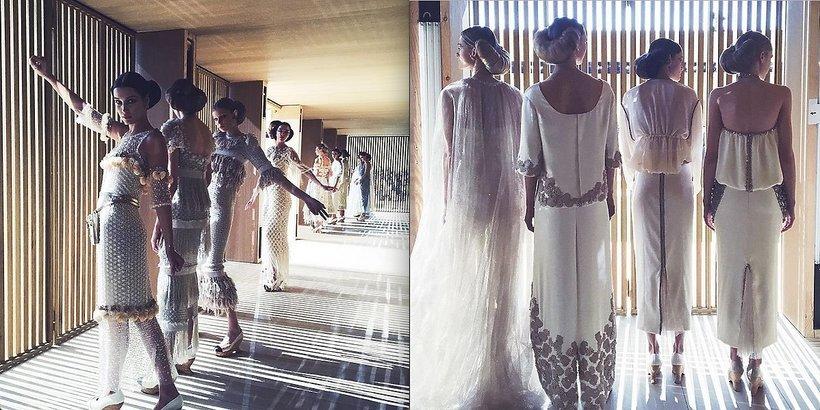 Modelki na pokazie mody Chanel Haute Couture wiosna-lato 2016