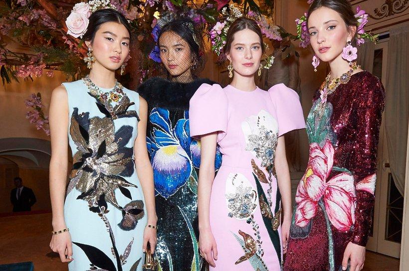 Modelki na pokazie Dolce & Gabbana Alta Moda 2016