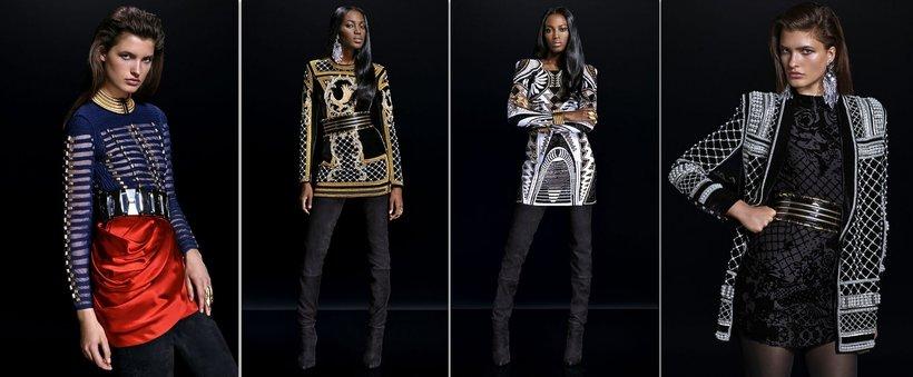 Modelki w strojach Balmain dla H&M
