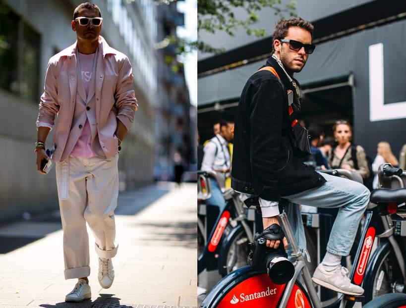 modne meskie bluzy i spodnie na wiosne 2021