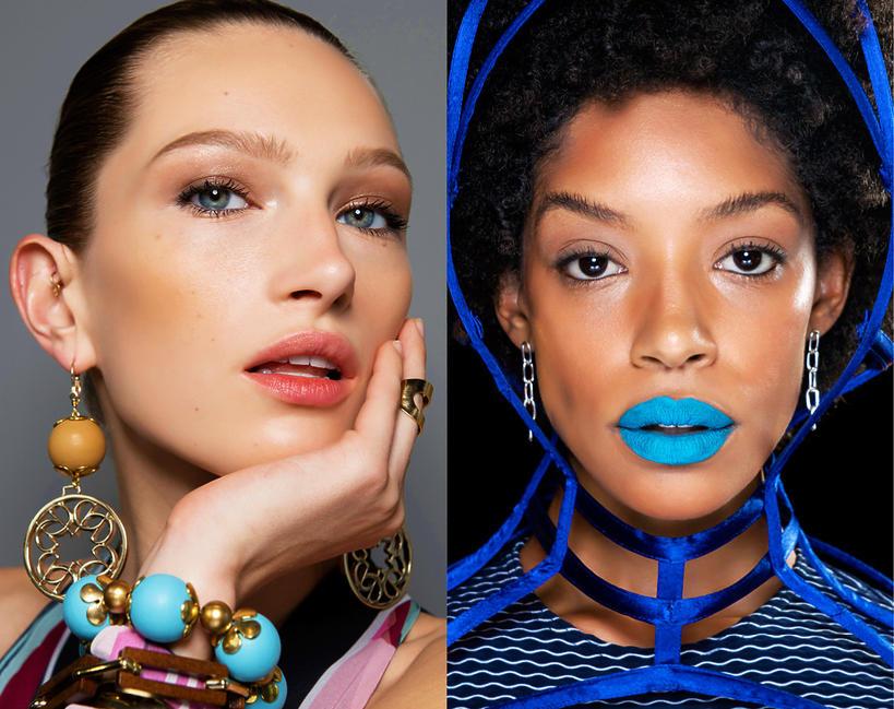 Modny makijaż, usta wiosna 2020