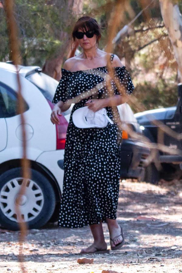 Monica Bellucci na wakacjach w Grecji 2020