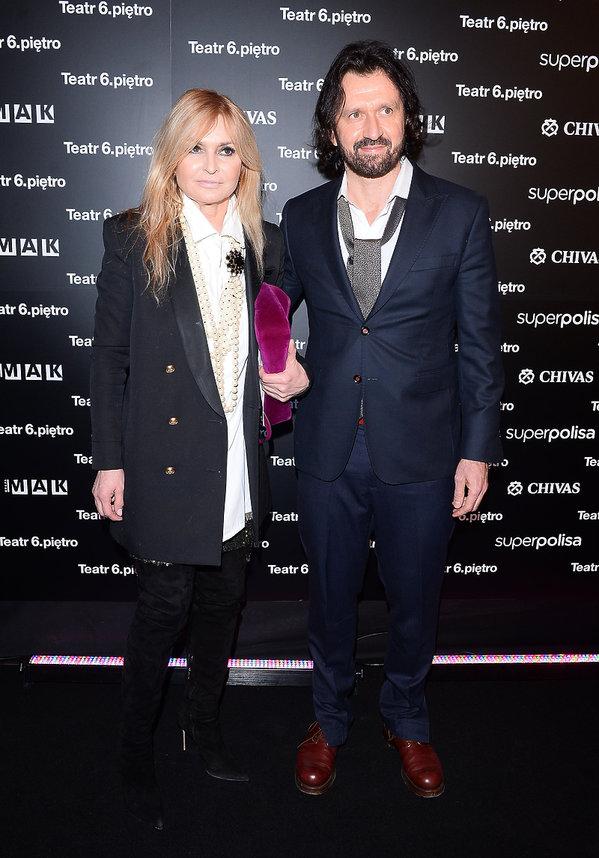 Monika Olejnik i Tomasz Ziółkowski na premierze spektaklu Ożenek