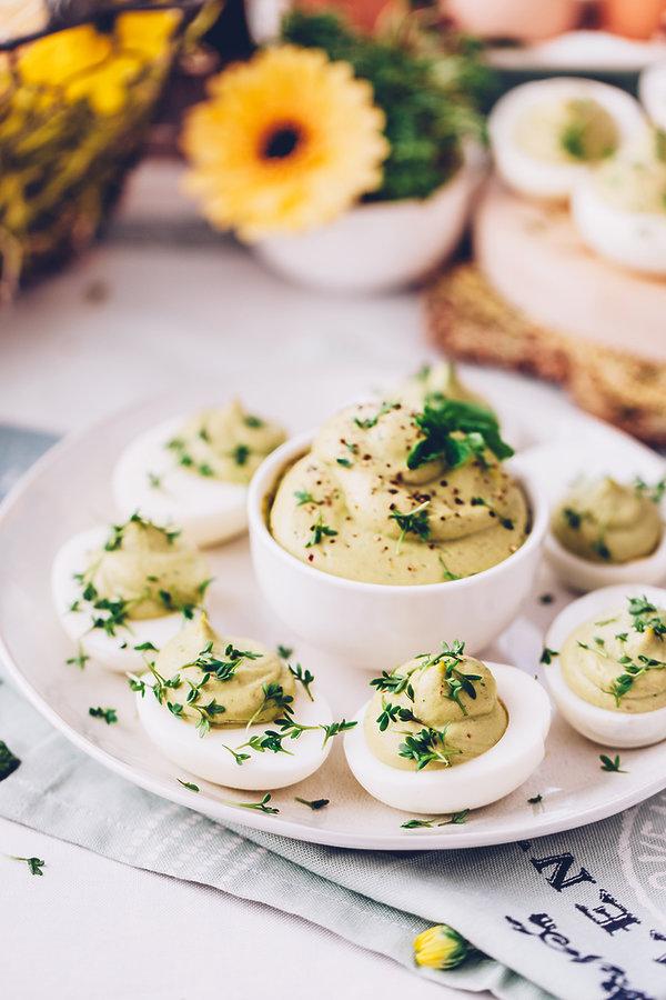 Najlepsze jajka faszerowane z rzeżuchą