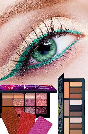najlepsze palety dla zielonych oczu