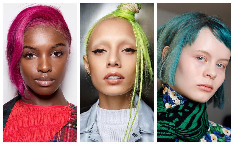 Najmodniejsze kolory włosów na jesień - trendy 2019 neonowe