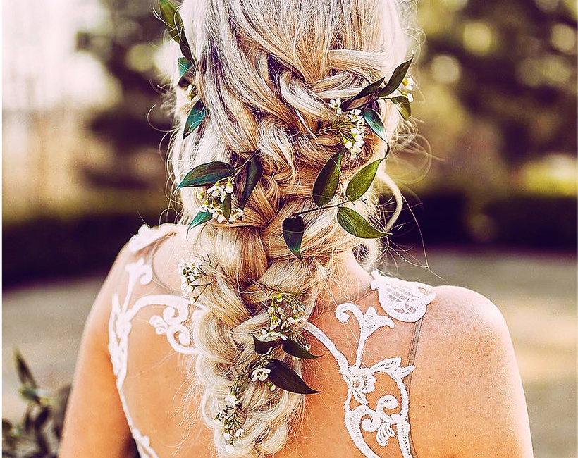 Najpopularniejsza fryzura ślubna 2018 messyupdo