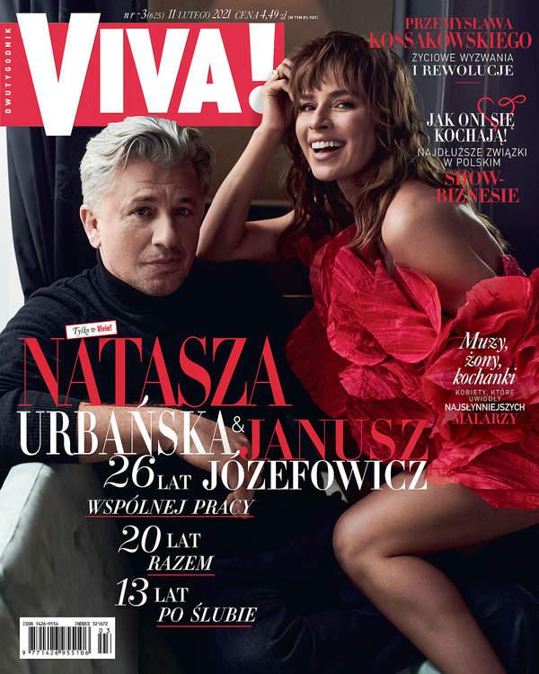 Natasza Urbańska, Janusz Józefowicz, VIVA! 3/2021, okładka