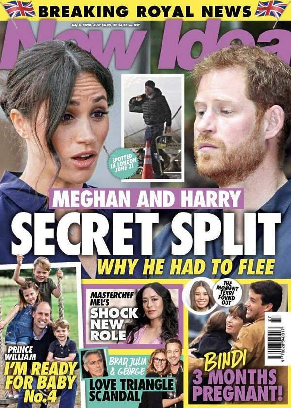 New Idea: Harry wyprowadza siędo Wielkiej Brytanii