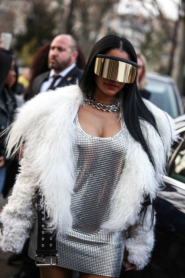 Nicki Minaj na pokazie Ricka Owensa.