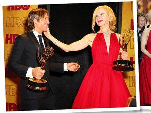 Nicole Kidam i Keith Urban podczas Emmy 2017