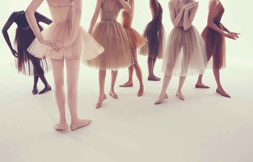 Nogi w balerinkach