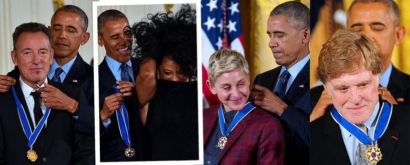 Obama odznacza gwiazdy hollywood