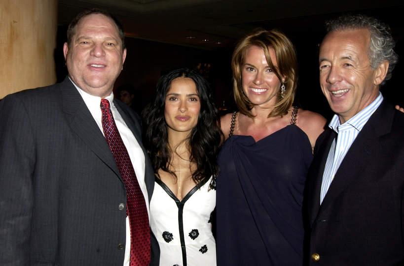 Od lewej: Harvey Weinstein, Salma Hayek, Kelly Bensimon i Gilles Bensimon