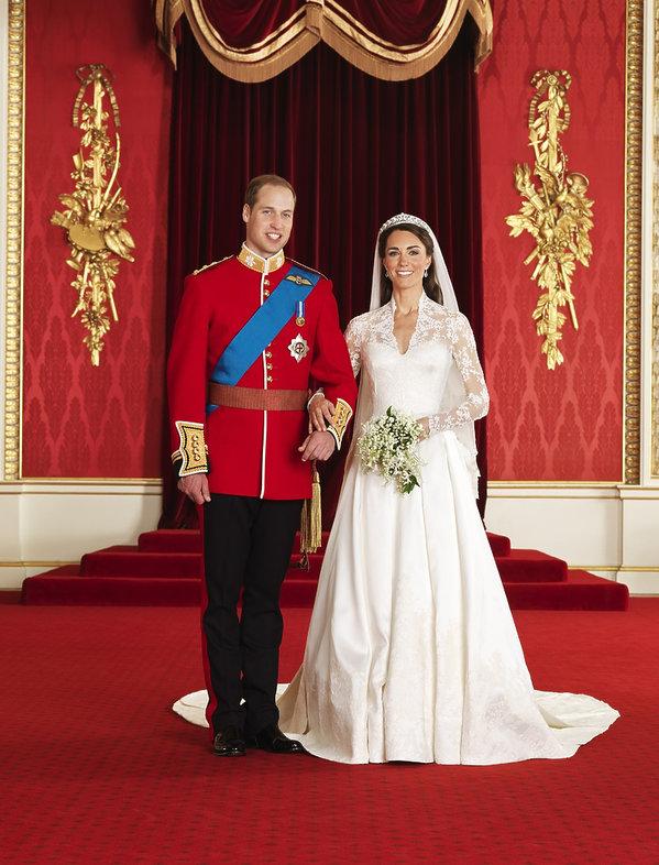 Oficjalne portrety rodziny królewskiej, oficjalny portret ślubny Kate i Williama