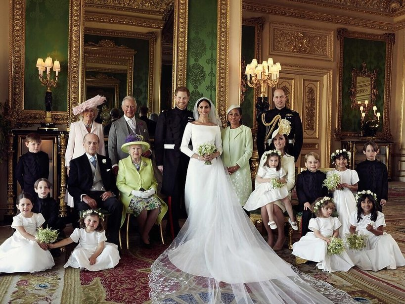Oficjalne zdjęcia ślubne Meghan Markle i księcia Harry'ego, książę Harry, brytyjska rodzina królewska