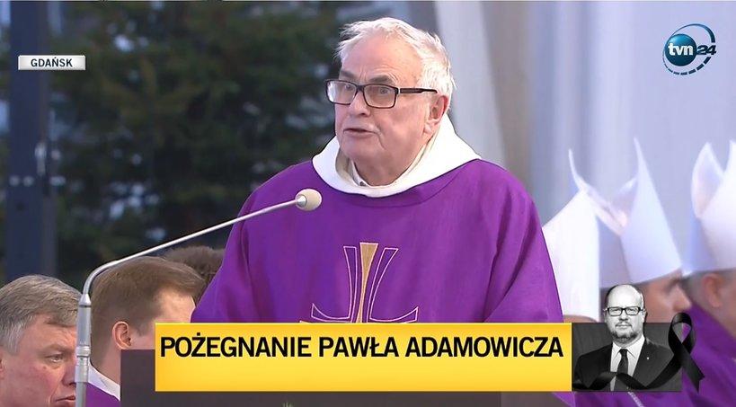 Ojciec Ludwik Wiśniewski, pogrzeb prezydenta Gdańska