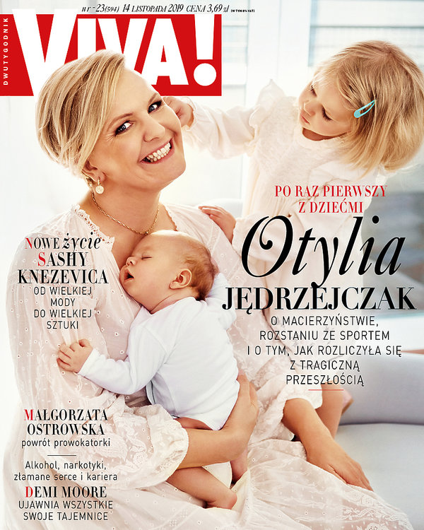Okłada VIVA! 23/2019, Otylia Jędrzejczak z dziećmi