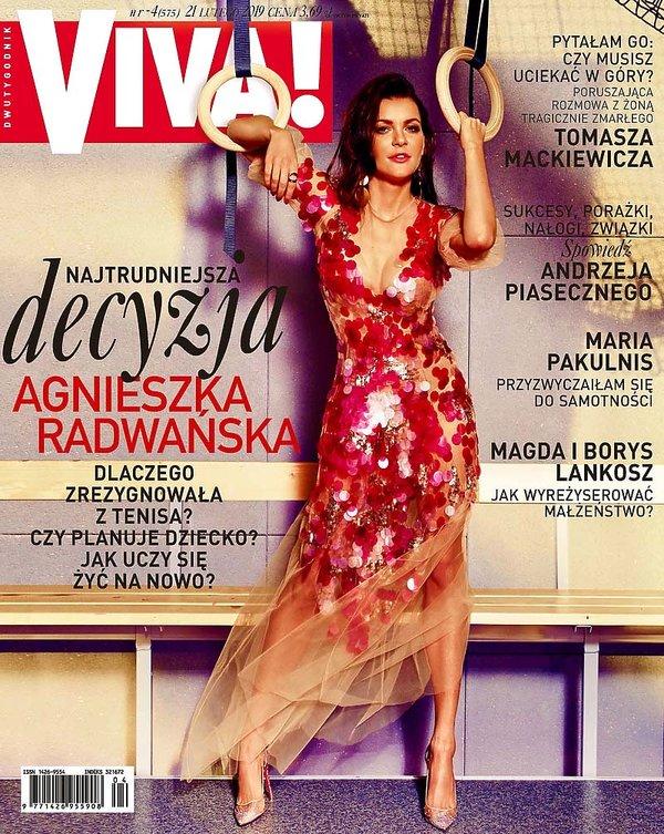 okładka, Agnieszka Radwańska, VIVA! 4/2019, lekka