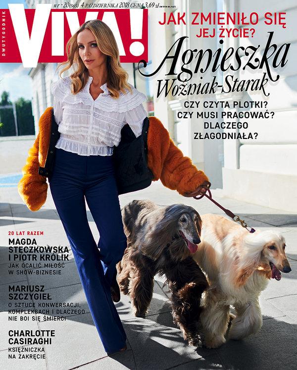 okładka, Agnieszka Woźniak-Starak, VIVA! nr. 20/2018