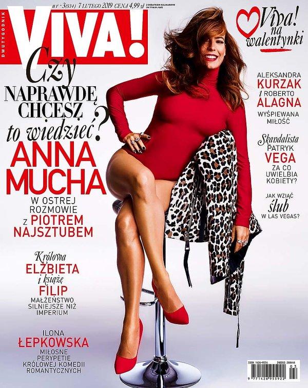 okładka, Anna Mucha, Viva! 3/2018, lekka
