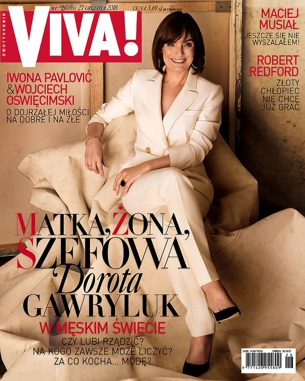 okładka, Dorota Gawryluk, VIVA! 26/2018