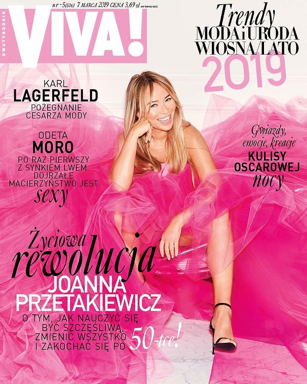 okładka, Joanna Przetakiewicz, Viva! 5/2019 LEKKA