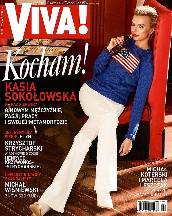 okładka, Kasia Sokołowska, Viva! 7/2019 okładka Kasia Sokołowska, Viva! 7/2019, lekka