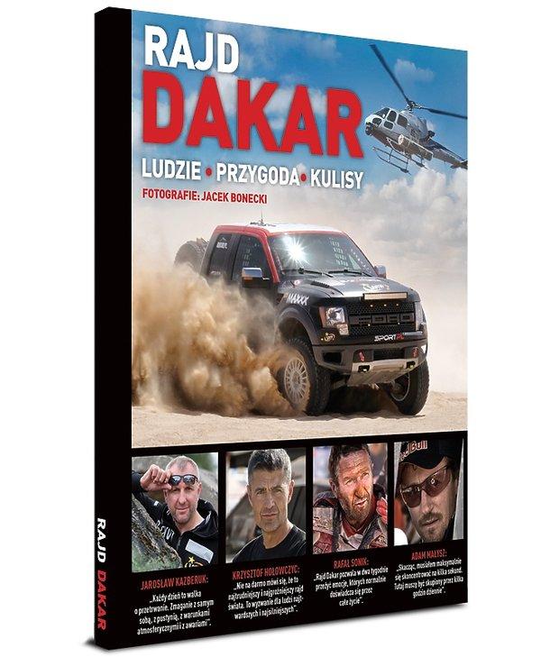 Okładka ksiązki o Rajdzie Dakar