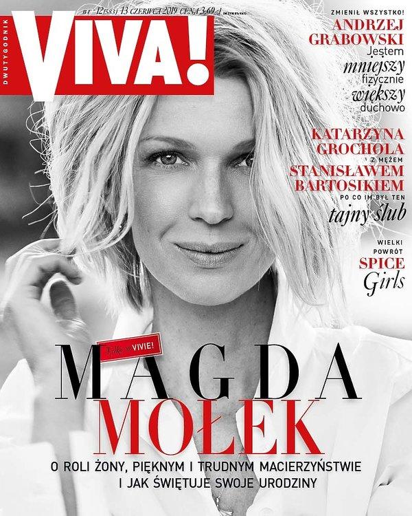 OKŁADKA, Magda Mołek, VIVA! nr 12, czerwiec 2019; LEKKA