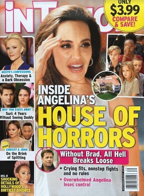 """okładka tygodnika """"In Touch"""" z Angeliną Jolie"""