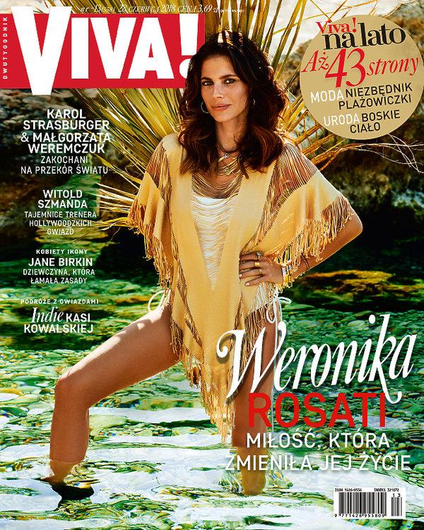 okładka, Viva! nr. 13, czerwiec 2018, Weronika Rosati