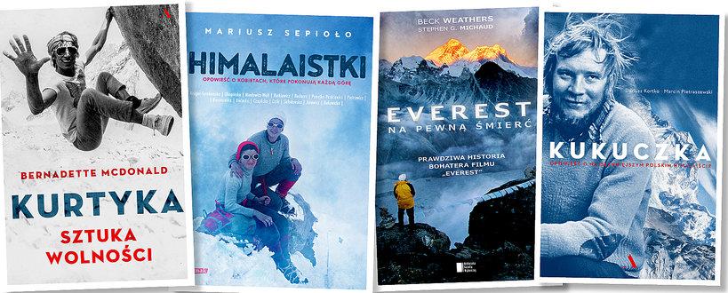 Okładki książek o górach