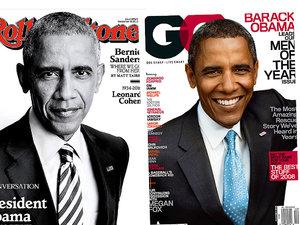 Okładki z Barackiem Obamą